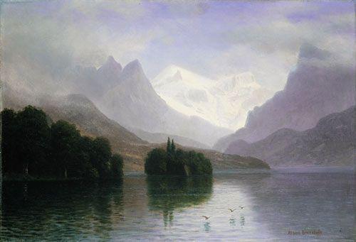 De rivier en eeuwige berg