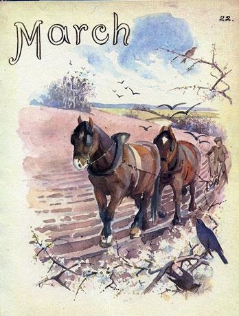Ploegen in de lente maart 1905